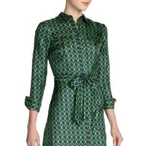 Elizabeth McKay Silk Shirt Dress Sz 6